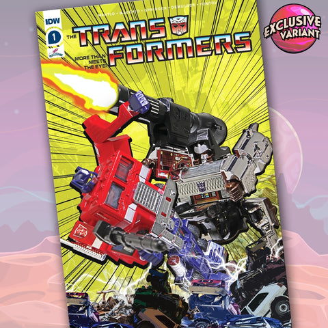 Transformers #1 GalaxyCon Exclusive Action Figure Variant Cover B GalaxyCon