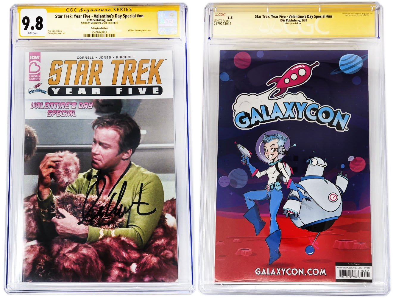 William Shatner Signed Star Trek: Year Five Valentine's Day Special Sealed GalaxyCon Exclusive CGC Certified GalaxyCon