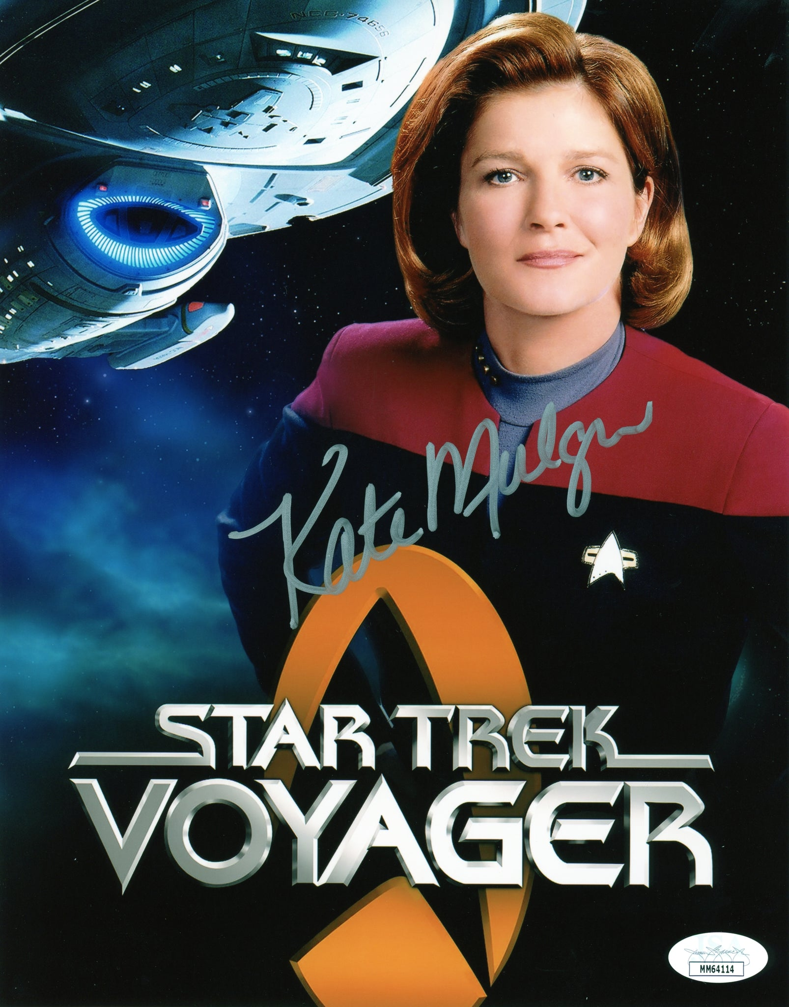 Kate Mulgrew Star Trek 8x10 Photo Signed Autographed JSA Certified COA