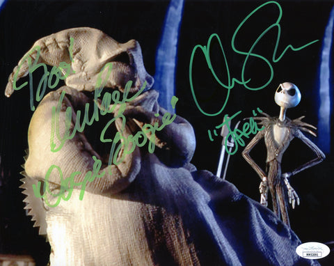 The Nightmare Before Christmas 8x10 Photo Signed Autograph Sarandon Page JSA Certified COA  Auto