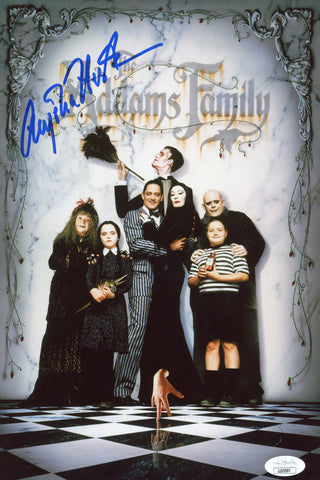 Anjelica Huston The Addams Family 8x12 Photo Signed Autograph JSA Certified COA Auto