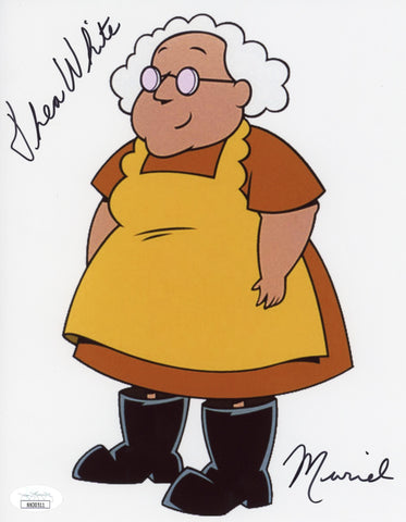Thea White Courage the Cowardly Dog 8x10 Photo Signed Autograph JSA Certified COA Auto