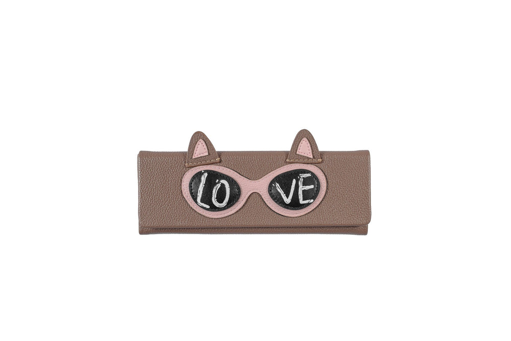 Foldable - Brown with Love Cat