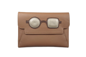 Clutch - Brown with Pop Art Frame - APTICA