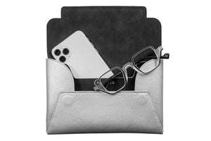 Load image into Gallery viewer, Clutch - Silver with Bulldog - APTICA