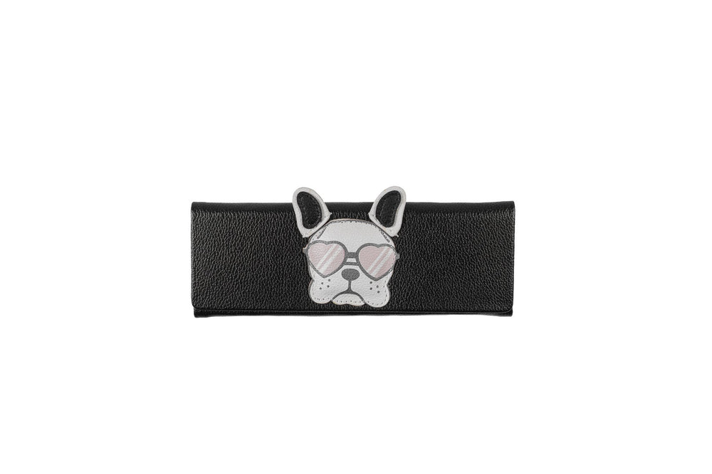 Foldable - Black with Pink Bulldog