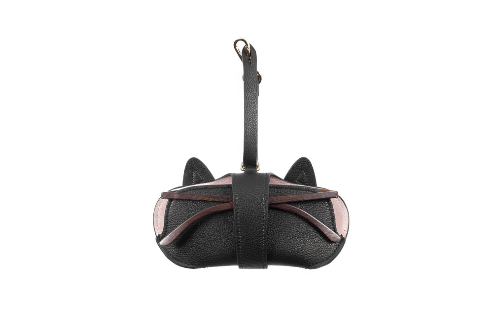 Pouch - Black with Cat