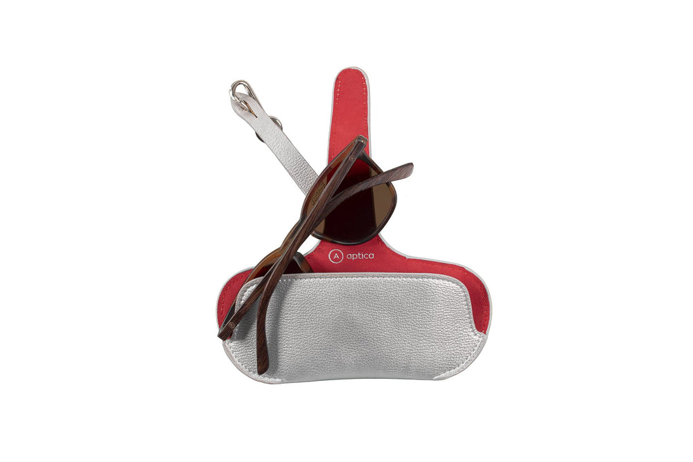 Pouch - Silver with Red Lips - APTICA