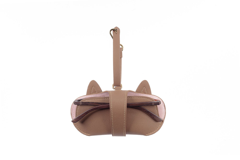 Pouch - Brown with Cat