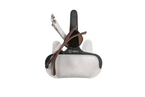 Pouch - Silver with Bulldog