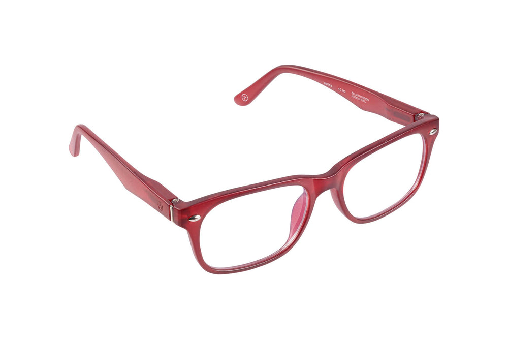 Load image into Gallery viewer, Aptica University Omega Red Ready Reading Glasses Unisex Blue Light Filter Sideview