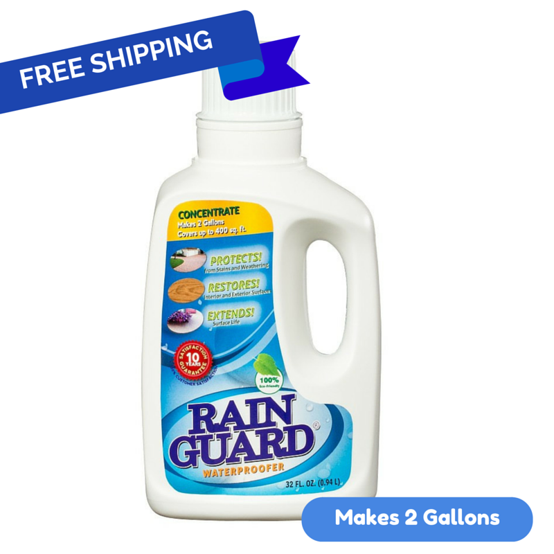 Rainguard Advanced Waterproofer 10 year Concentrate (Makes 2 Gallons) 32 Oz. Quart