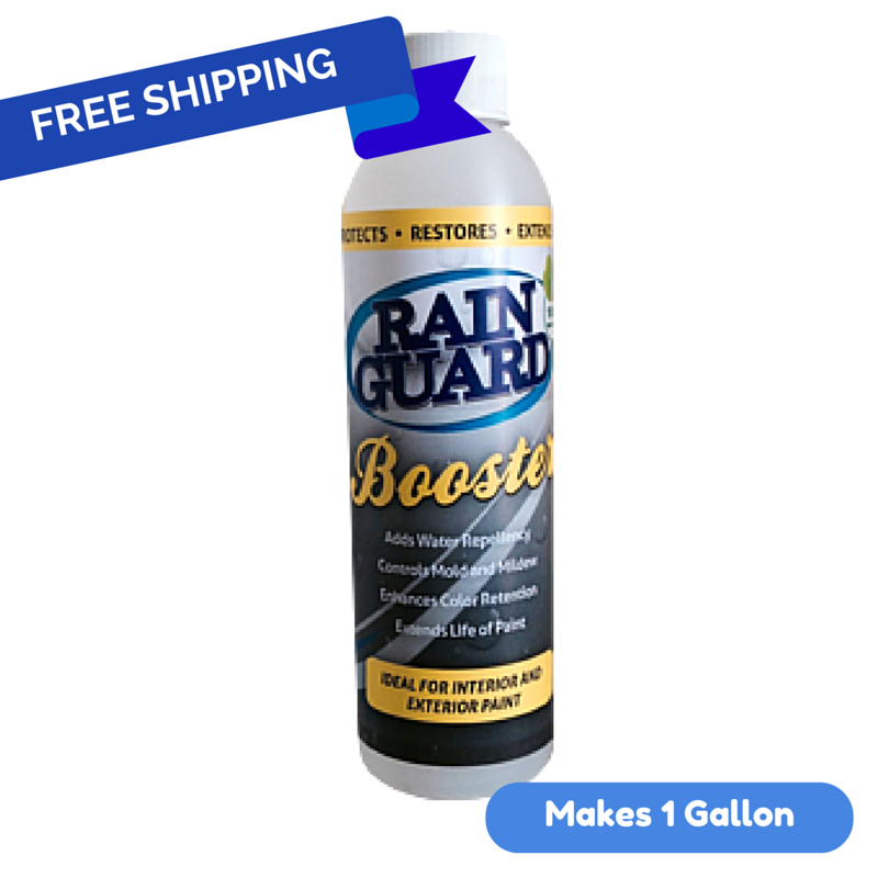 Rainguard Paint Booster 4 Oz. Concentrate Add to 1 Gallon Pail Water Based Paint