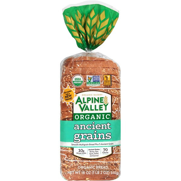 Alpine Valley Organic Ancient Grains Bread, 18 oz