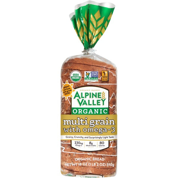 Alpine Valley Organic Multigrain with Omega-3 Bread, 18 oz