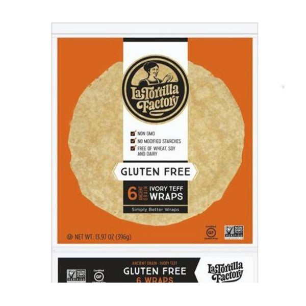 La Tortilla Factory Ancient Grain Teff Wraps (13.97 oz)