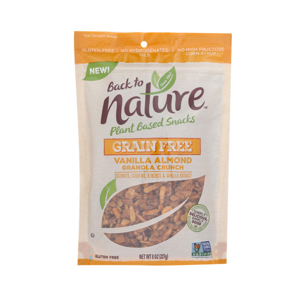 Back To Nature Grain Gluten Free Vanilla Almond Granola, 8 oz