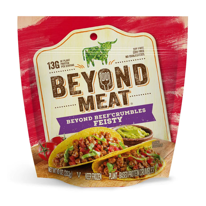 Beyond Meat Plant-based Beef Crumbles, Feisty Flavor, 10 oz Bag