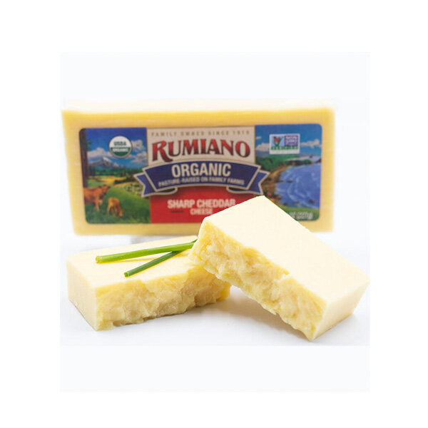 Rumiano Organic Sharp Cheddar Cheese, 8 oz