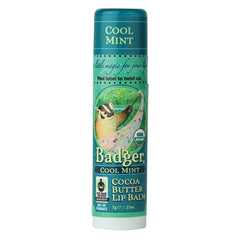 Badger Company Natural & Organic Cocoa Butter Cool Mint Lip Balm Stick (.25 Oz)