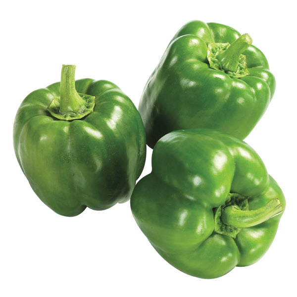 Green Bell Peppers, Bulk (25 lbs)