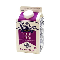 Knudsen Half and Half Grade A Ultra Pasteurized, 16 oz (1 pint)