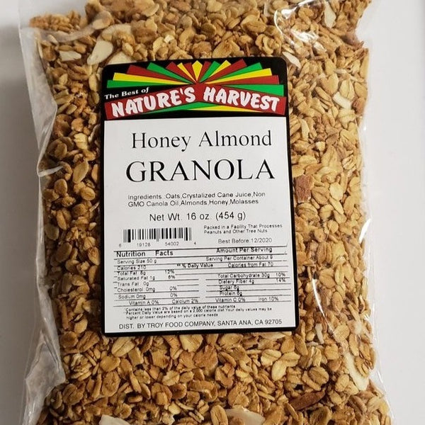 Nature's Harvest Heart-Healthy Honey Almond Granola, 16 oz