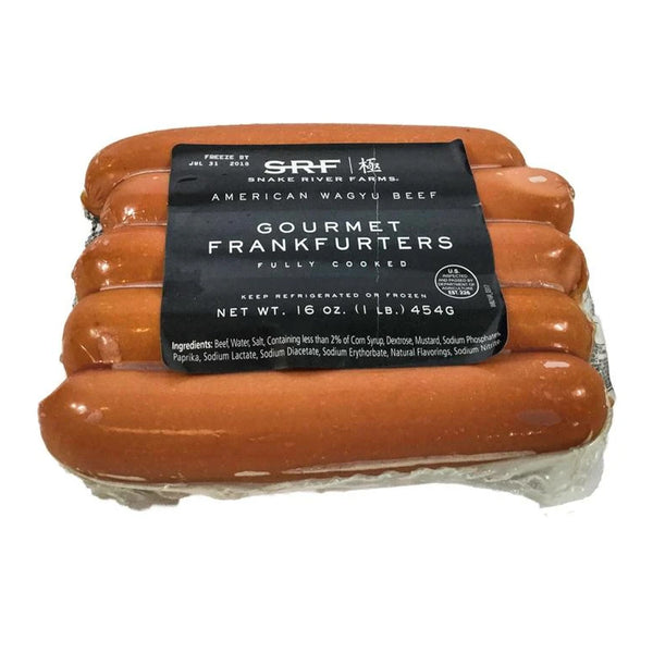 Snake River Farms American Wagyu Beef Gourmet Frankfurters, 5 count (1 lb)