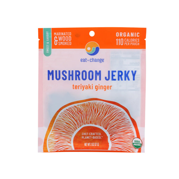 Eat The Change Organic Mushroom Jerky Teriyaki Ginger, 8 oz