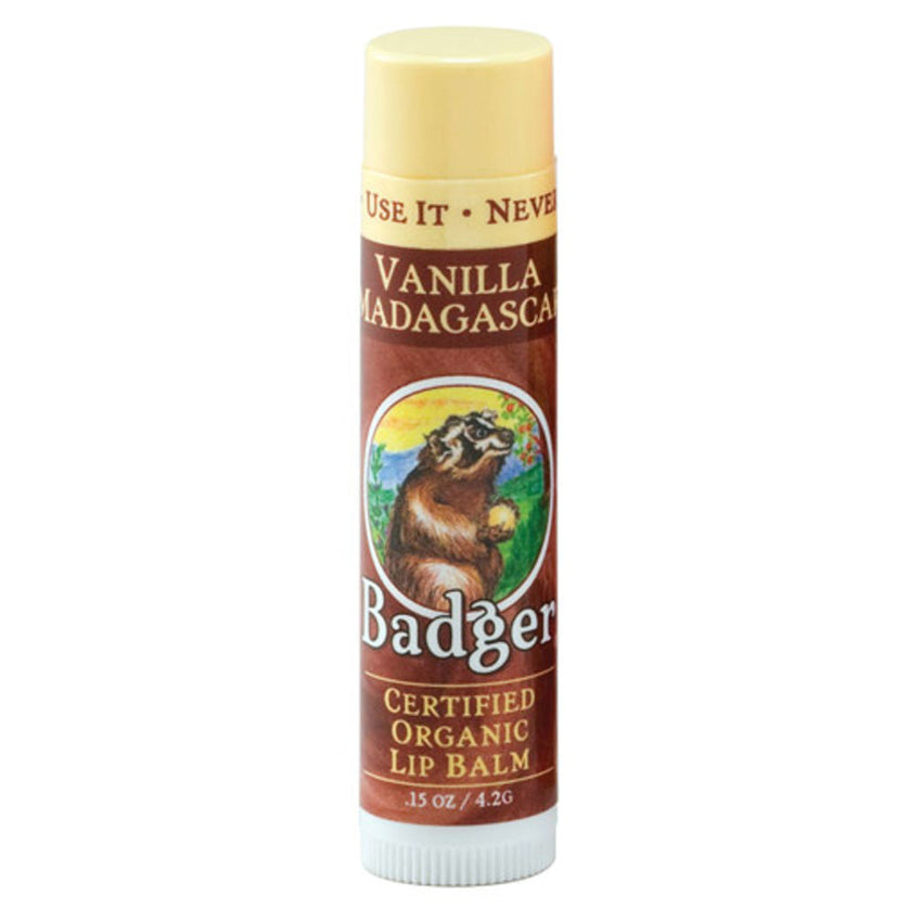 Badger Company Natural & Organic Vanilla Madagascar Lip Balm Stick (.15 Oz)