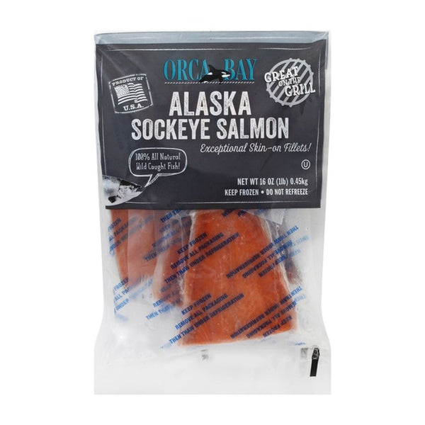 Orca Bay Frozen Wild Caught Alaska Sokeye Salmon Tails, 16 oz