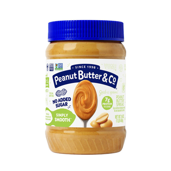 Peanut Butter & Co. Simply Smooth Peanut Butter, Non-Gmo, Gluten Free, Vegan, 16 Oz