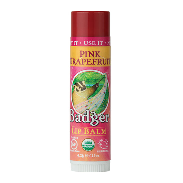 Badger Company Natural & Organic Pink Grapefruit Lip Balm Stick (.15 oz)
