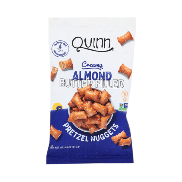 Quinn Creamy Gluten Free Maple Almond Butter Pretzel Nuggets, 7 oz