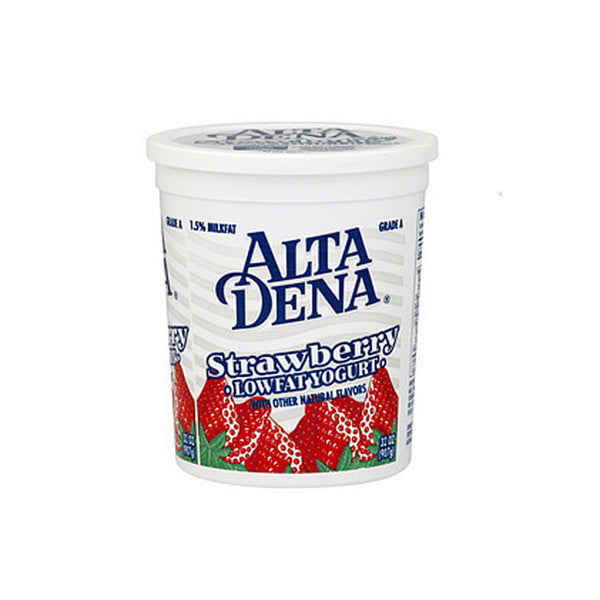Alta Dena Low Fat Strawberry Yogurt, 32 oz