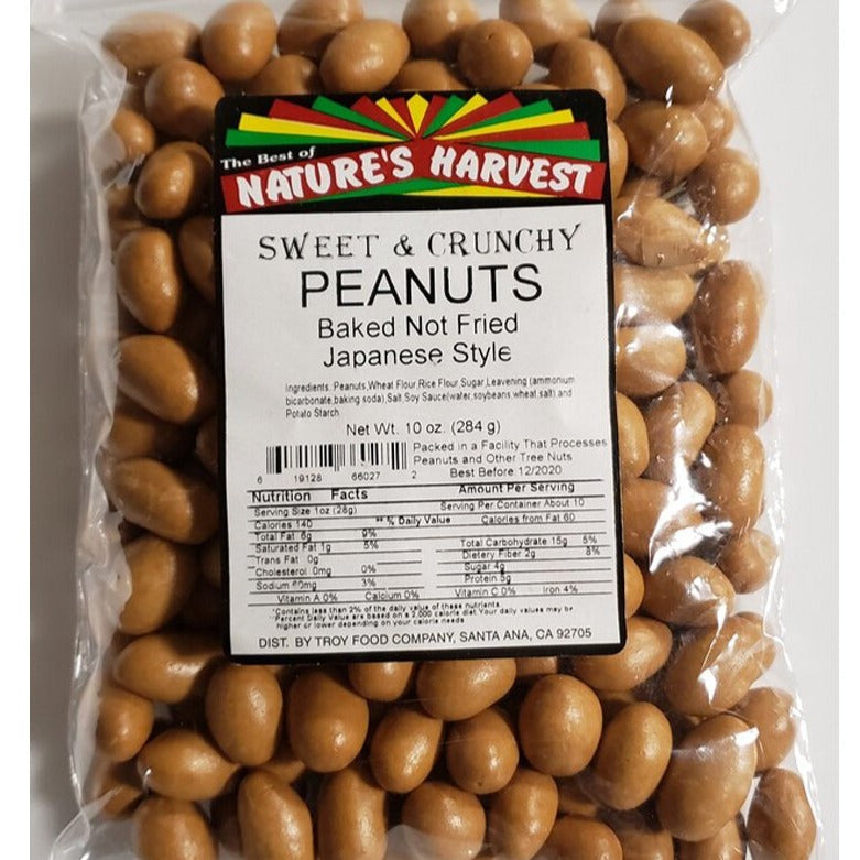 Nature's Harvest Heart-Healthy Sweet & Crunchy Peanuts, 10 oz