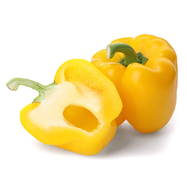 Yellow Bell Peppers, Bulk (11 lbs)