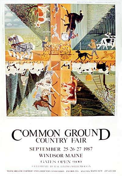 MOFGA's 1987 Common Ground Country Fair Poster - Country Crossroads