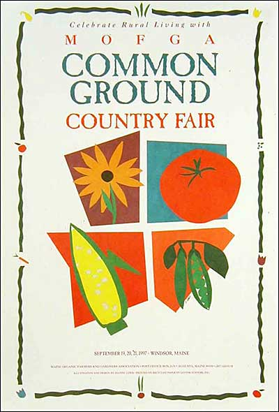 MOFGA's 1997 Common Ground Country Fair Poster  - Modern vegetables