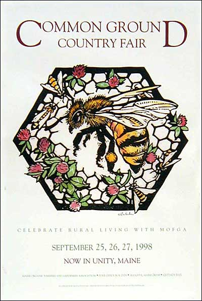 MOFGA's 1998 Common Ground Country Fair Poster - Bee