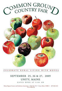MOFGA's 2009 Common Ground Country Fair Poster - John Bunker 16 apples