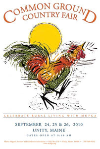 MOFGA's 2010 Common Ground Country Fair Poster - Early Riser Rooster