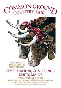 MOFGA's 2013 Common Ground Country Fair Poster - Oxen team