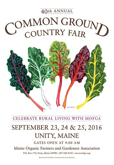 MOFGA's 2016 Common Ground Country Fair Poster - Rainbow Swiss Chard