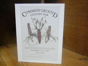 Common Ground Country Fair Notecard -Individual Cards
