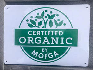 MOFGA Certified Organic Sign