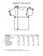 Adult Regular t-shirt size chart