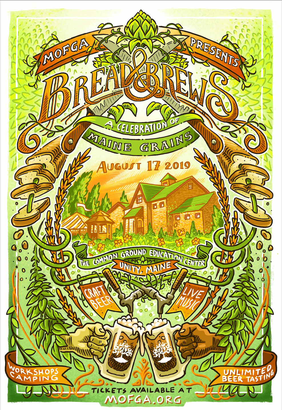 2019 Bread and Brews Poster