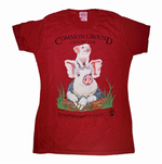 MOFGA's 2018 Common Ground Country Fair - Adult Short-Sleeved T-Shirt - Pigs - Fitted Small in Red Cedar