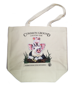 MOFGA's 2018 Common Ground Country Fair Grocery Tote Bag - Pigs